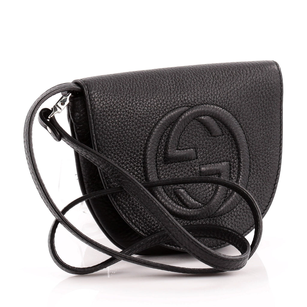 642931897d9e Buy Gucci Soho Kid's Flap Crossbody Bag Leather Mini Black 1000501 ...