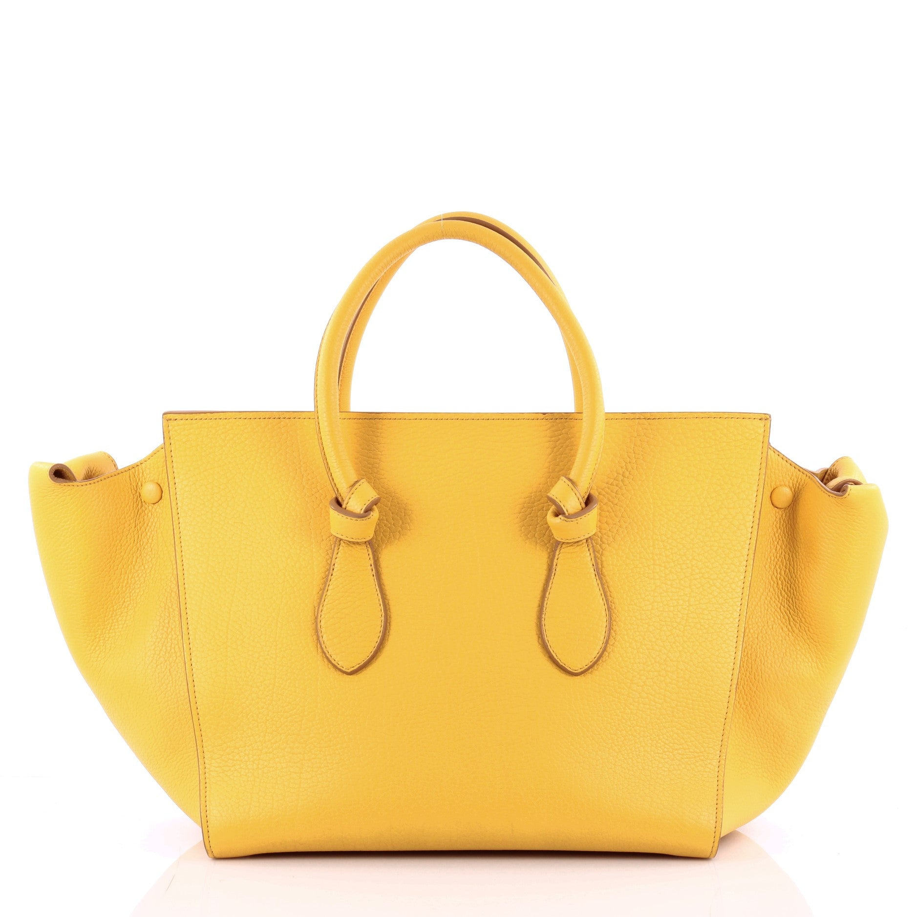 Buy Celine Tie Knot Tote Grainy Leather Large Yellow 1000701 Trendlee
