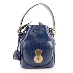 Ralph Lauren Collection Ricky Drawstring Bag Python Small