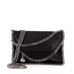 Stella McCartney Falabella Flap Crossbody Shaggy Deer Mini