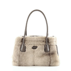 Tod's D-Styling Tote Fur and Python Medium