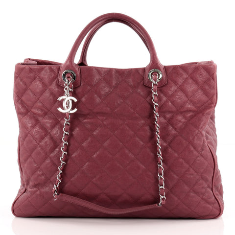 f8a9e25624458a Buy Chanel Shiva Tote Quilted Caviar Large Pink 1016601 – Rebag