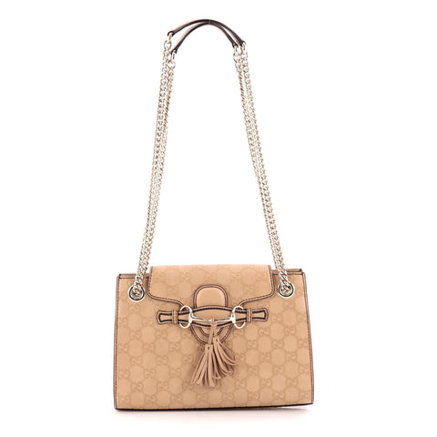 8f0cff3aa09901 Buy Gucci Emily Chain Flap Shoulder Bag Guccissima Leather 1018601 – Rebag
