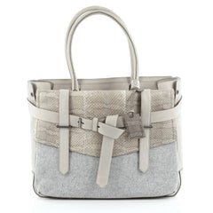 Reed Krakoff Boxer Tote Wool, Leather and Python Medium