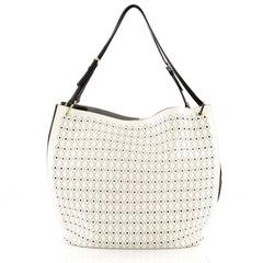 Tod's Secchiello Traforo Bucket Tote Perforated Leather Large