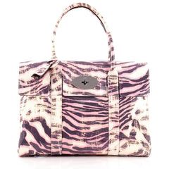 Mulberry Bayswater Satchel Printed Patent Medium