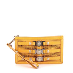 Versace Medallion Clutch Laser Cut Leather Small