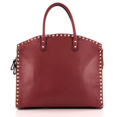 Valentino Rockstud Convertible Dome Tote Leather