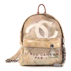 Chanel Art School Backpack Graffiti Canvas Small
