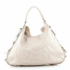 Salvatore Ferragamo Fergie Hobo Embroidered Leather