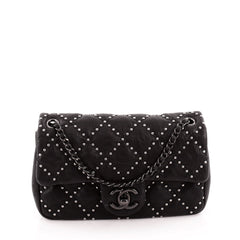 Chanel Paris-Dallas Flap Bag Quilted Studded Distressed Calfskin Small