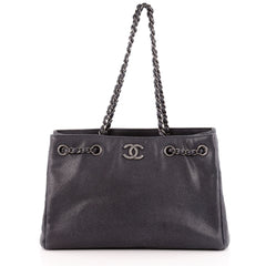 Chanel Open Chain Shopping Tote Caviar Large