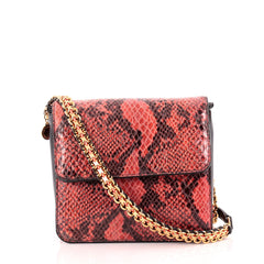 Stella McCartney Grace Crossbody Bag Faux Snakeskin Small