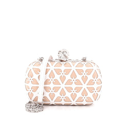 Alexander McQueen Skull Box Clutch Laser Cut Leather Small