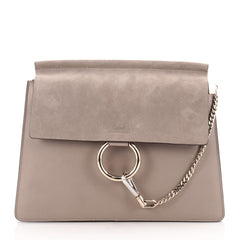 Chloe Faye Shoulder Bag Leather and Suede