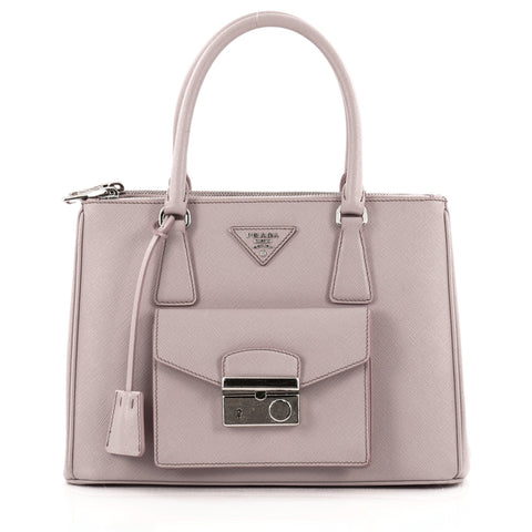 cfb44104fc4e Buy Prada Front Pocket Double Zip Lux Tote Saffiano Leather 1070501 – Rebag