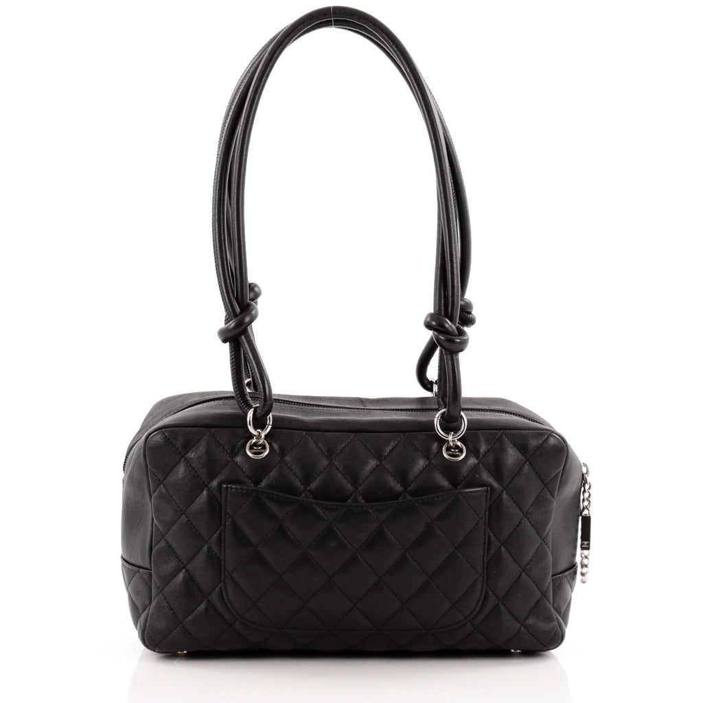 1fd60a4305b1 Buy Chanel Cambon Bowler Bag Quilted Leather Medium Black 1073401 ...