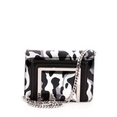 Jimmy Choo Alba Chain Clutch Printed Leather Small