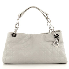 Christian Dior East West Soft Chain Tote Cannage Quilt Leather Large