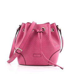 Gucci Bright Bucket Bag Diamante Leather Small