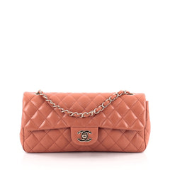 Chanel Classic Single Flap Bag Quilted Lambskin East West