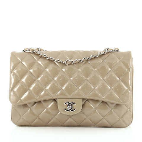 26fac1b7146 Buy Chanel 3 Bag Quilted Patent Jumbo Neutral 1098501 – Rebag