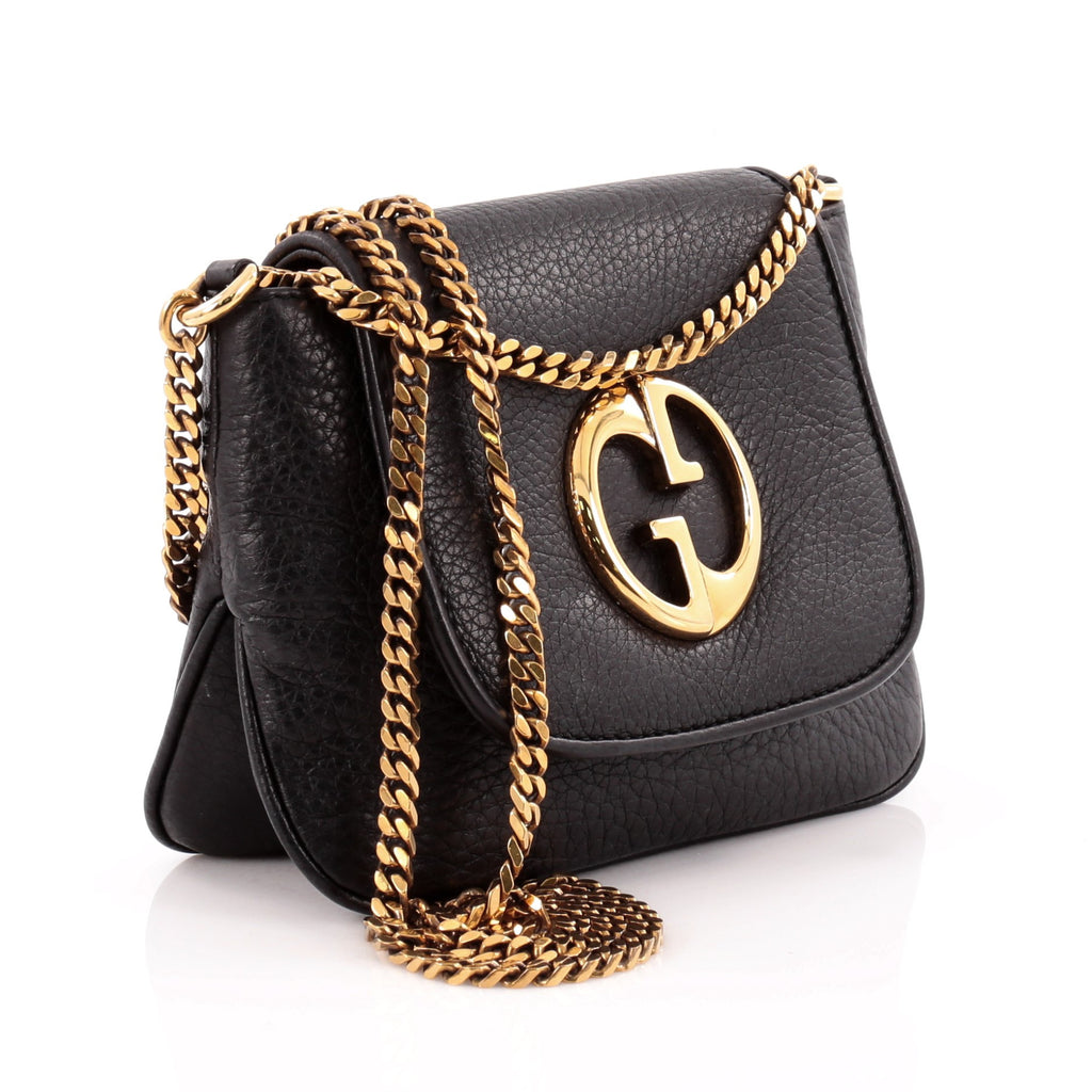 f97bb99ca2d Buy Gucci 1973 Crossbody Bag Leather Small Black 1101303 – Rebag