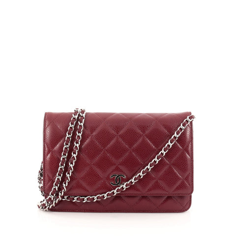 e2da621abc0b Buy Chanel Wallet on Chain Quilted Caviar Red 1105701 – Rebag