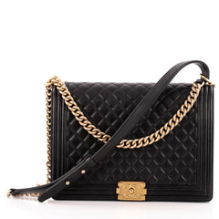 Chanel Boy Flap Bag Quilted Lambskin Large