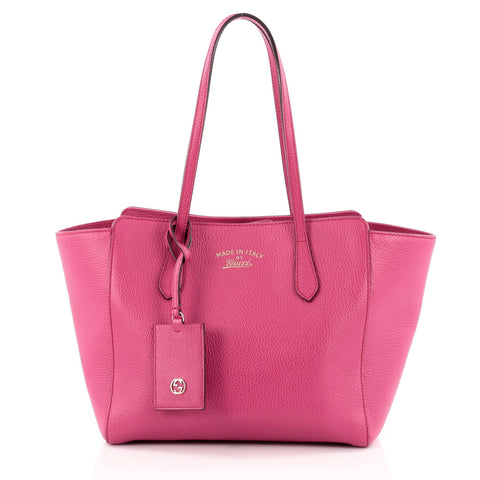 b66c19360580 Buy Gucci Swing Tote Leather Small Pink 1108101 – Rebag