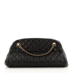 Chanel Just Mademoiselle Handbag Quilted Leather Medium