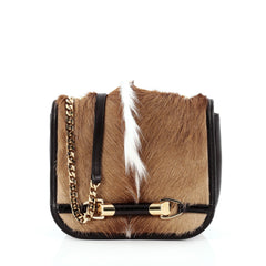 Jimmy Choo Zadie Crossbody Bag Gazelle Hair with Crocodile Small