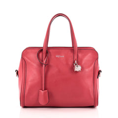 Alexander McQueen Padlock Zip Around Tote Leather Small