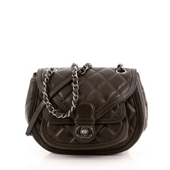 Chanel Saddle Bag Quilted Calfskin Small