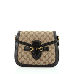 Gucci Lady Web Shoulder Bag GG Canvas Medium