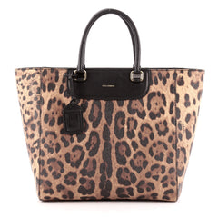 Dolce & Gabbana Lucia Shopper Printed Saffiano Leather