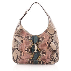 Gucci Jackie Original Shoulder Bag Python Medium
