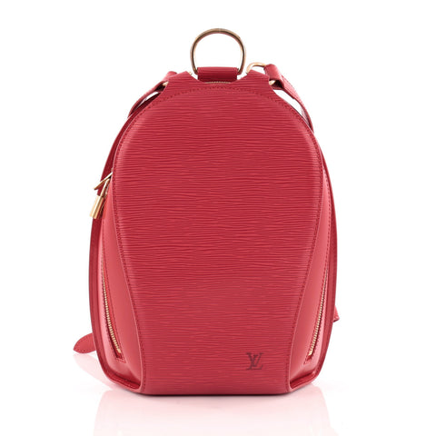 e451778635cc Buy Louis Vuitton Mabillon Backpack Epi Leather Red 1136401 – Rebag