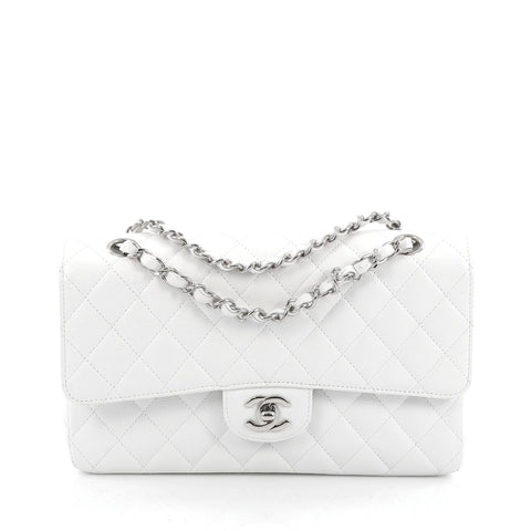 2b7dd2960763 Buy Chanel Classic Double Flap Bag Quilted Caviar Medium 1141202 – Rebag