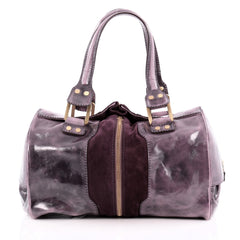 Jimmy Choo Marla Bag Patent Leather and Suede