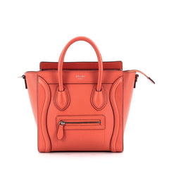 Celine Luggage Handbag Grainy Leather Nano