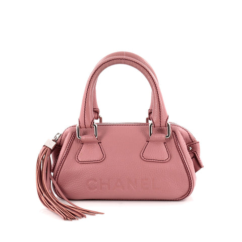 c352f207a3d965 Buy Chanel Lax Tassel Bag Pebbled Leather Small Pink 1150702 – Rebag