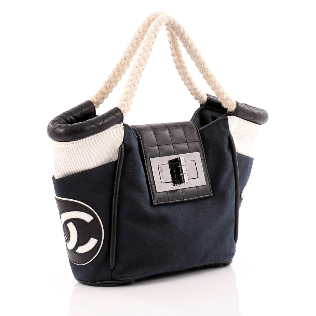 167374f0d019 Buy Chanel Cruise Mademoiselle Rope Cabas Canvas and Leather 1150706 ...