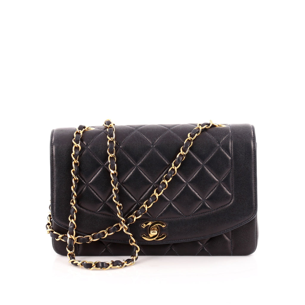 fa58040242d9 Buy Chanel Vintage Diana Flap Bag Quilted Lambskin Medium 1153504 ...