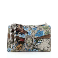 Gucci Dionysus Handbag Blooms Print Embroidered GG Coated Canvas Small