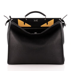 Fendi Selleria Peekaboo Monster Handbag Leather XL