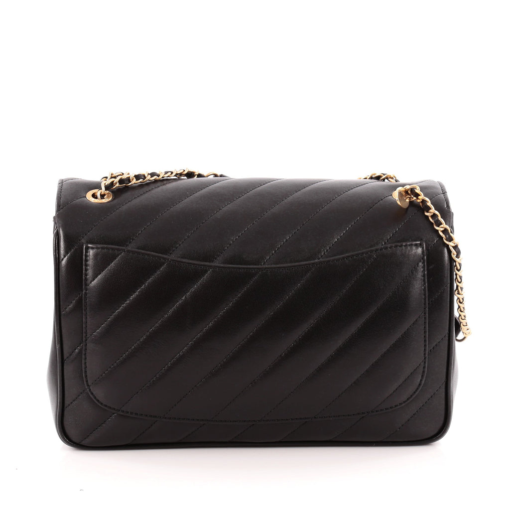 be91a063d5b0 Buy Chanel CC Signature Flap Bag Diagonal Quilted Leather 1163901 ...