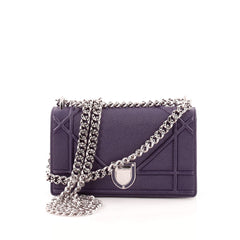 Christian Dior Diorama Flap Bag Grained Calfskin Mini