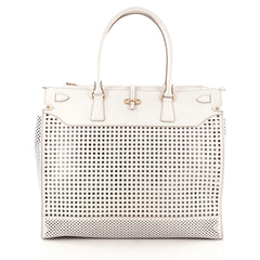 Salvatore Ferragamo Briana Tote Perforated Leather XL
