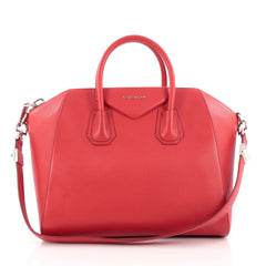 Givenchy Antigona Bag Leather Medium Red
